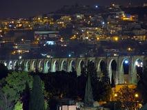 Het Aquaduct van Queretaro stock afbeeldingen