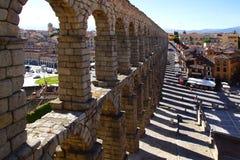 Het Aquaduct van Segovia Stock Foto