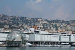 Het aquarium en het gebied van Renzo Piano Stock Foto