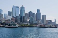 Het Aquarium van Seattle en de stad in Royalty-vrije Stock Afbeelding