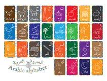 Het Arabische alfabet voor beginner Stock Foto's