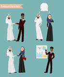 Het Arabische Bedrijfsmensen Samenkomen Stock Afbeeldingen