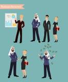 Het Arabische Bedrijfsmensen Samenkomen Royalty-vrije Stock Fotografie