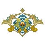 Het Arabische ontwerp van de arabesque decoratieve sierillustratie vector illustratie