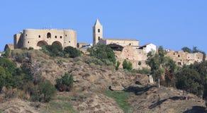 Het Aragonese-Kasteel van Bernalda stock afbeelding