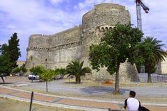 Het Aragonsky-slot. Stock Afbeelding