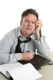 Het arbeider-Probleem van het bureau het Concentreren zich royalty-vrije stock afbeeldingen