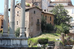 Het archeologische gebied van Rome Royalty-vrije Stock Foto