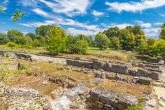 Het Archeologische Park van Dion stock afbeeldingen