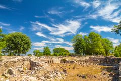 Het Archeologische Park van Dion royalty-vrije stock foto
