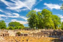 Het Archeologische Park van Dion stock foto
