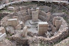 Het archeologische werk in Gobekli Tepe stock afbeeldingen