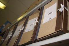 Het archief van de stad royalty-vrije stock afbeeldingen