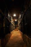 Het archief van de wijn stock afbeelding