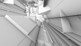 Het architecturale abstracte 3d teruggeven Royalty-vrije Stock Foto