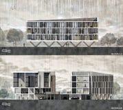 Het architecturale Sectie Teruggeven stock illustratie