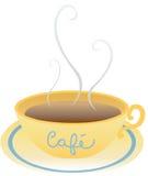 Het aroma van de koffiebar stock illustratie