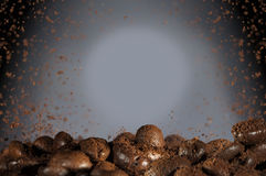 Het aromaachtergrond van koffiebonen Royalty-vrije Stock Afbeeldingen