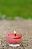 Het aromatische kaars branden Stock Afbeeldingen