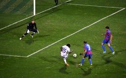 Het Arsenaal van het voetbalspel versus Dynamo Kyiv Stock Fotografie