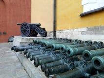 Het Arsenaalkanonnen & x28 van het Kremlin; cannon& x29; in Moskou, Rusland royalty-vrije stock foto