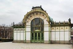 Het Art Nouveau-paviljoen, Wenen royalty-vrije stock afbeeldingen