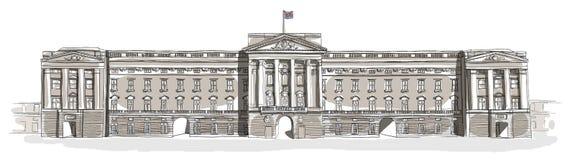 Het art. van de Buckingham Palacelijn Stock Afbeelding