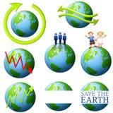 Het Art. van de Klem van de aarde en van het Milieu royalty-vrije illustratie