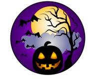 Het Art. van de Klem van de Pompoen van Halloween royalty-vrije illustratie