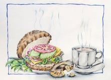 Het Art. van de koffieillustratie Royalty-vrije Stock Foto