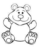 Het Art. van de Lijn van de teddybeer Royalty-vrije Stock Afbeelding