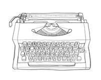 Het art. van de VintageTypewriterslijn Stock Fotografie