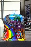 Het art. van de vuilnisbakstraat royalty-vrije stock foto's
