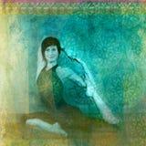Het Art. van de yoga royalty-vrije illustratie