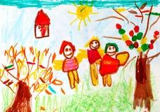 Het art. van het kind royalty-vrije stock afbeeldingen