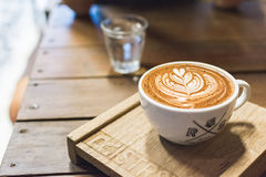 Het art. van Latte van de koffiekop Royalty-vrije Stock Foto's