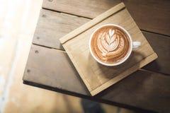 Het art. van Latte van de koffiekop Stock Foto