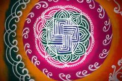 Het Art. van Rangoli Stock Foto's