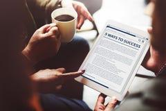 Het Artikelconcept van Internet van de websitehomepage Online Stock Foto