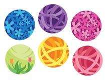 Het artistieke esthetische element van de bal vectorillustratie Stock Foto