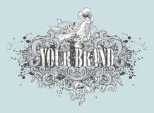 Het artistieke ontwerp van de T-shirt Stock Foto