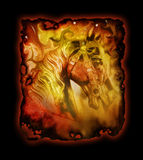 Het artistieke Paard van de Carrousel Stock Foto's