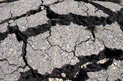 Het asfalt van de barst Royalty-vrije Stock Fotografie