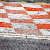 Het asfalt van het autoras Stock Afbeeldingen