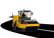 Het asfalteren van wegen royalty-vrije illustratie