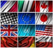 Het assembleren van vlaggen Stock Foto