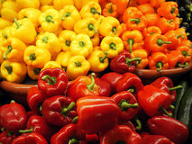 Het Assortiment van de groene paprika royalty-vrije stock foto