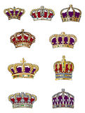 Het Assortiment van de kroon Stock Foto's