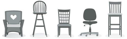 Het Assortiment van de stoel Vector Illustratie