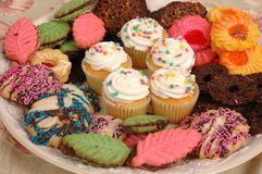 Het Assortiment van het dessert Stock Foto